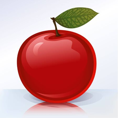 mirrored: Apple (other fruits & berries are in my gallery) Stock Photo