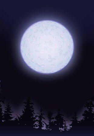 moonlit: Full moon  Stock Photo