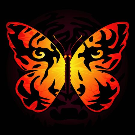 untamed: Tiger-colored butterfly Stock Photo