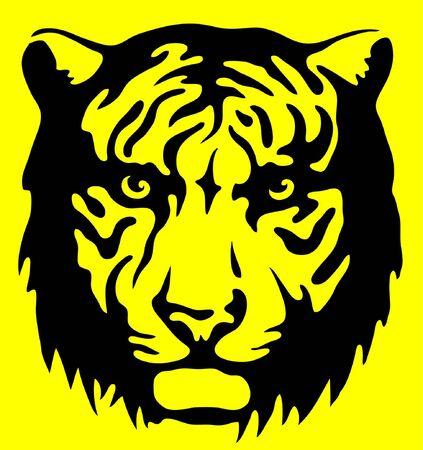 untamed: Tiger warning sign Stock Photo
