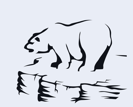 Bear standing on a rock