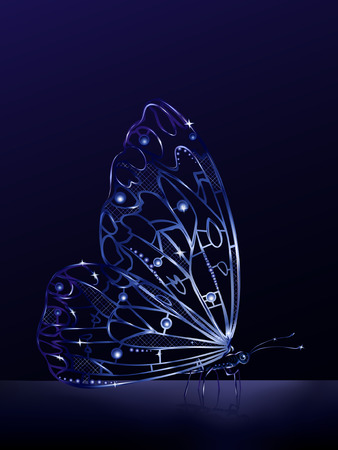 Artificial crystal butterfly