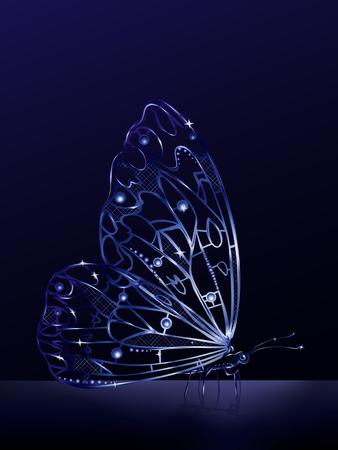 strass: K�nstliche Kristall Schmetterling  Illustration