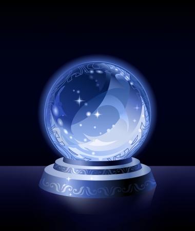 Crystal scrying ball (simple version) Vectores