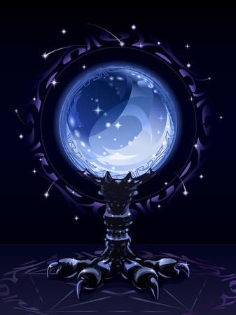クリスタル scrying ボール (複雑なバージョン)