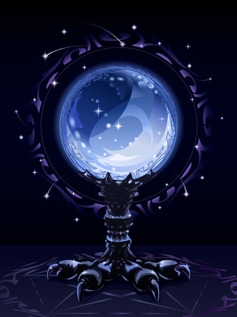Crystal scrying ball (complex version)