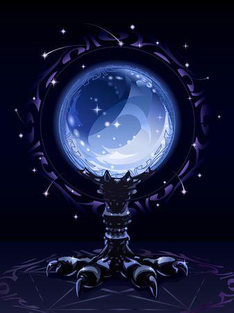 rituales: Bola de cristal adivinaci�n usado para rituales m�sticos