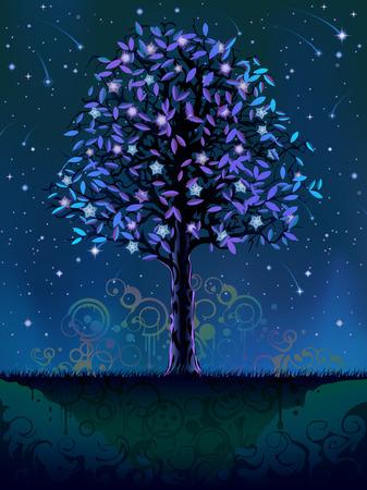 Blooming notte albero (altri paesaggi sono a mio galleria)