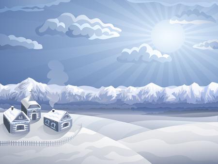 Highland Dorf im Winter (andere Landschaften sind in meiner Galerie) Standard-Bild - 4367799