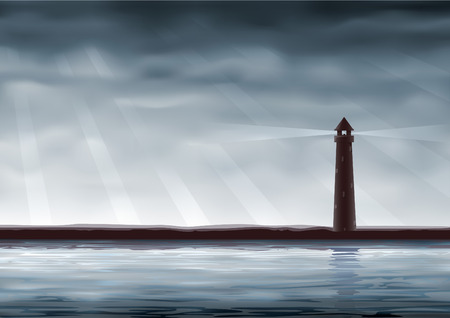 Lighthouse (other landscapes are in my gallery) Vector