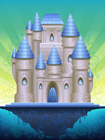 bollwerk: Fantastischen Insel Burg (andere Landschaften sind in meiner Galerie)  Illustration