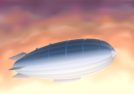 Airship (other sky views are in my gallery) Vector