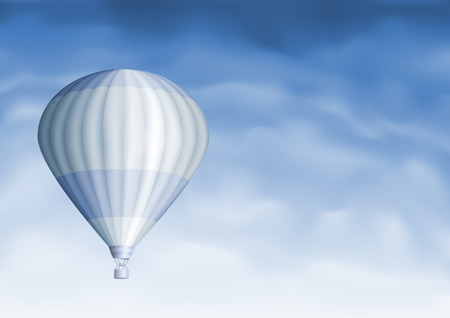 Hot air balloon in the blue sky (other sky views are in my gallery)