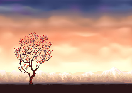 Autumn tree background  (other landscapes are in my gallery) Vector