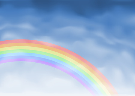 Vector rainbow (other cloudscapes are in my gallery) Stock Vector - 6082470