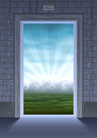 Door into summer (other landscapes are in my gallery) Stock Vector - 6082458