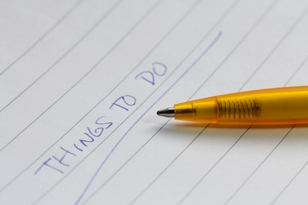 Pen and paper, things to do list Stock Photo - 13567220