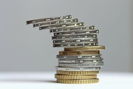 tilted: Tilted tower from Euro Coins