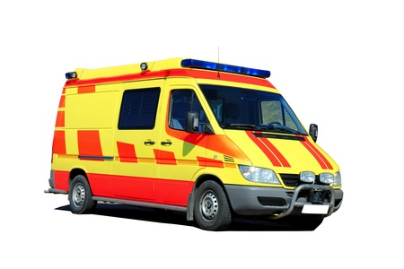 Ambulance isolated over white background.