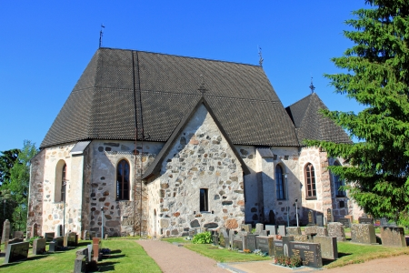 Nousiainen Church is one of the most significant medieval stone churches in Finland. photo