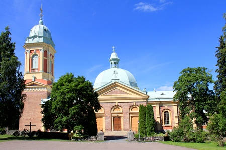 redbrick: The red-brick Kanta-Loimaa Church in Hirvikoski, Finland was completed in 1837. It represents the renaissance revival style.