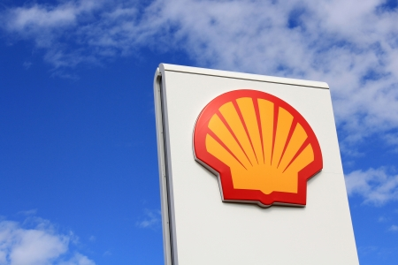 KARJAA, FINLAND - JULY 20, 2013:  Sign Shell in Karjaa, Finland on July 20, 13. Shell are a global group of energy and petrochemicals companies with around 87,000 employees in more than 70 countries and territories.