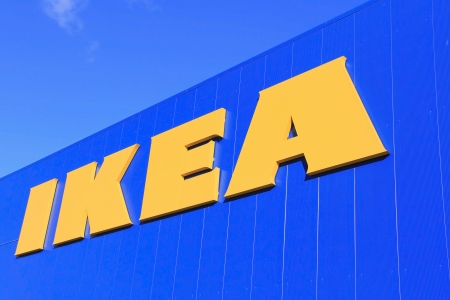RAISIO, FINLAND � SEPTEMBER 21: Sign IKEA at IKEA Raisio Store on September 21, 2013 in Raisio, Finland. As of January 2008, the company is the worlds largest furniture retailer. Stock Photo - 22358771