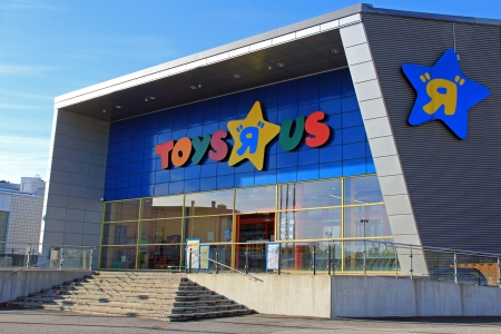 headquartered: TURKU, FINLAND - OCTOBER 6:  Toys R Us Store on October 6, 2013 in Turku, Finland.  Toys R Us is a  toy and juvenile-products retailer headquartered in Wayne, New Jersey, United States with more than 625 international stores in 35 countries.