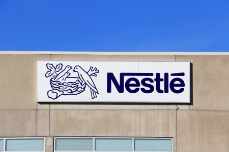TURKU, FINLAND - OCTOBER 6:  Nestle Factory on October 6, 2013 in Turku, Finland.Nestle S.A. is a Swiss multinational food and beverage company, and the largest food company in the world measured by revenues. Stock Photo - 22688665