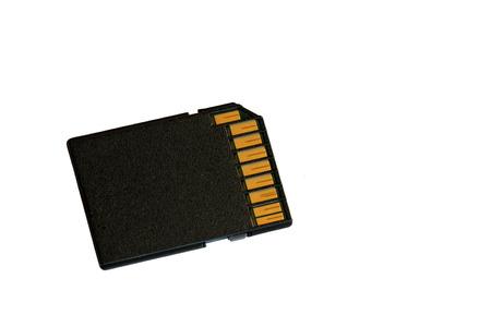 gigabytes: Super fast SDHC card for camera isolated over white.