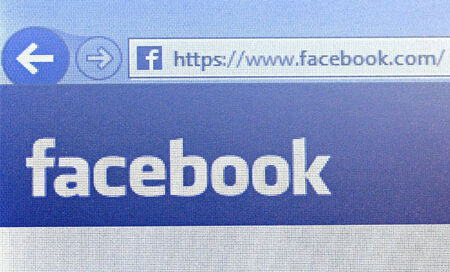 SALO, FINLAND - JANUARY 19, 2014  Photo of computer screen showing a detail of the Facebook home page  Facebook is an online social networking service, founded in February 2004  Stock Photo - 25220950