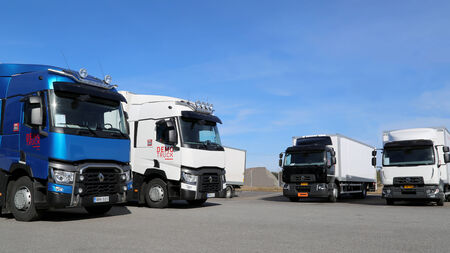 LIETO, FINLAND - APRIL 5, 2014: New Renault Range T and Range D trucks. Renault Trucks presents their new range at Volvo Trucks and Renault Trucks roadshow.