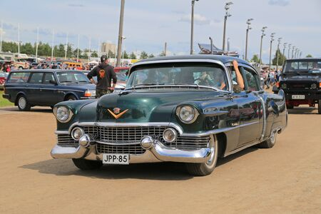 picknick: FORSSA, FINLAND - AUGUST 2, 2015: Classic Cadillac 4D Sedan Series 62 at Pick-Nick Car Show in Forssa, Finland.