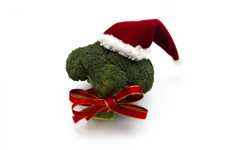 green vegetables: Healthy Christmas Stock Photo
