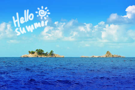lonelyness: Hello summer sea with rocky islands and clouds