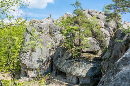 lofty: Large lofty stones Skeli Dovbusha IvanoFrankovsk Region Ukraine