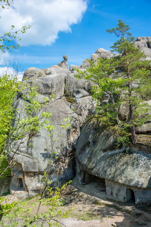 lofty: Large lofty stones Skeli Dovbusha, Ivano-Frankovsk Region, Ukraine