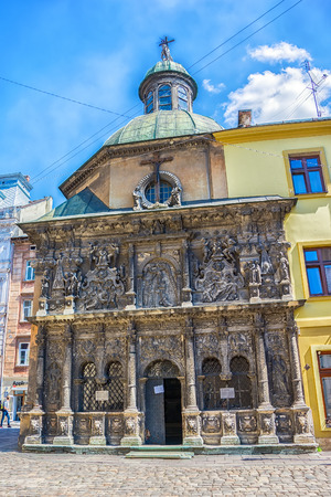 lemberg: Lviv, Ukraine - August 19, 2015: Chapel of the Boim family. Lviv city center