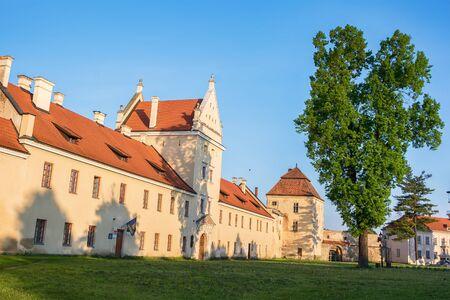 Zhovkva, Western Ukraine - May 12, 2015: Center. Zhovkva Castle
