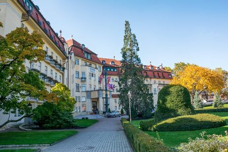 therapy geothermal: Piestany, Hungary - October 22, 2016: Piestany Spa Island thermal resort