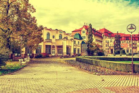 therapy geothermal: Piestany, Hungary - October 23, 2016: Piestany Spa Island thermal resort Irma Editorial