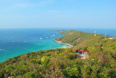 Gulf of Thailand coast of Koh Larn, viewed from a high angle. Stock Photo - 7938921