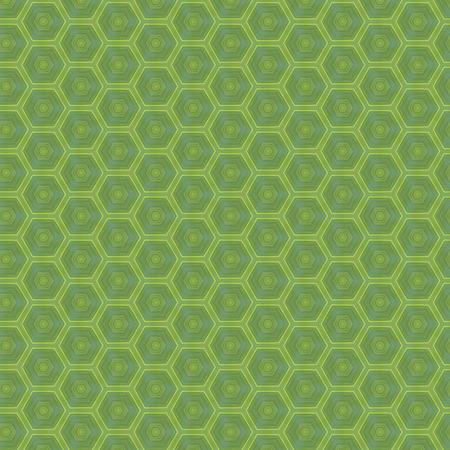 Geometric hexagon seamless patterns.Seamless dark green patterns
