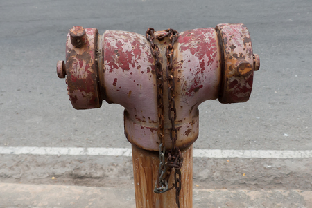 old fire hydrant  on roadside