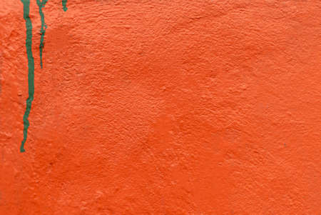 The old wall have orange color with for use design vintage background 写真素材