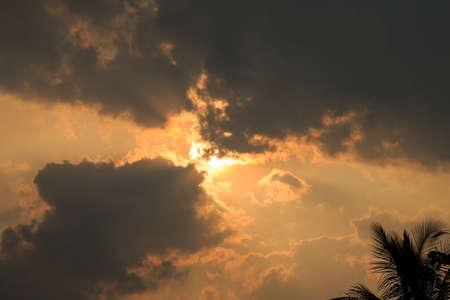 dark: Cloudy dark sky.