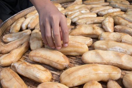 sundry: Banana preserved by sundry method,Dried Bananas.
