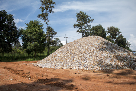 Gravel pile for material construction.