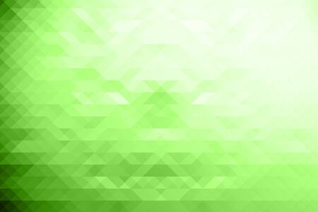 green tone: Low poly Abstract background in green tone. Stock Photo