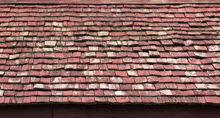rooftile: Old Wooden Red tiling pattern background.
